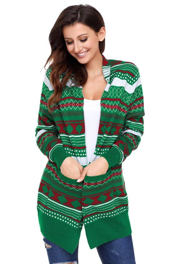 casual knit christmas cardigan ideas for females