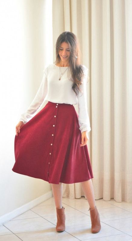 casual red and white christmas dress ideas for females