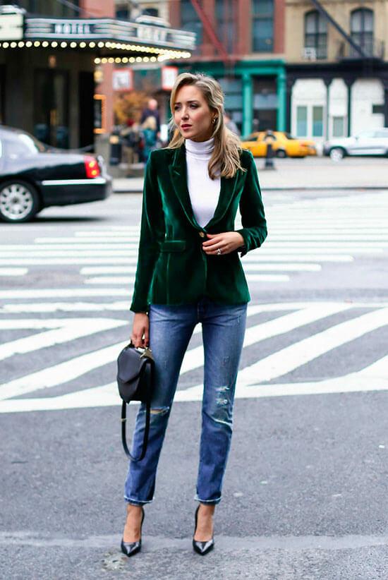 female casual velvet blazer dress ideas for christmas holidays