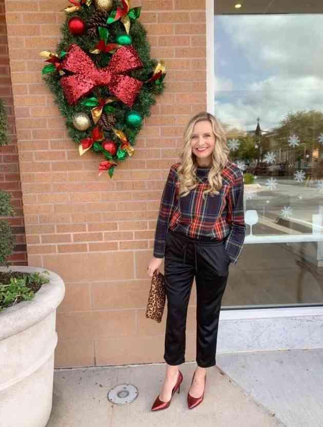 plaid shirt christmas casual female dress ideas