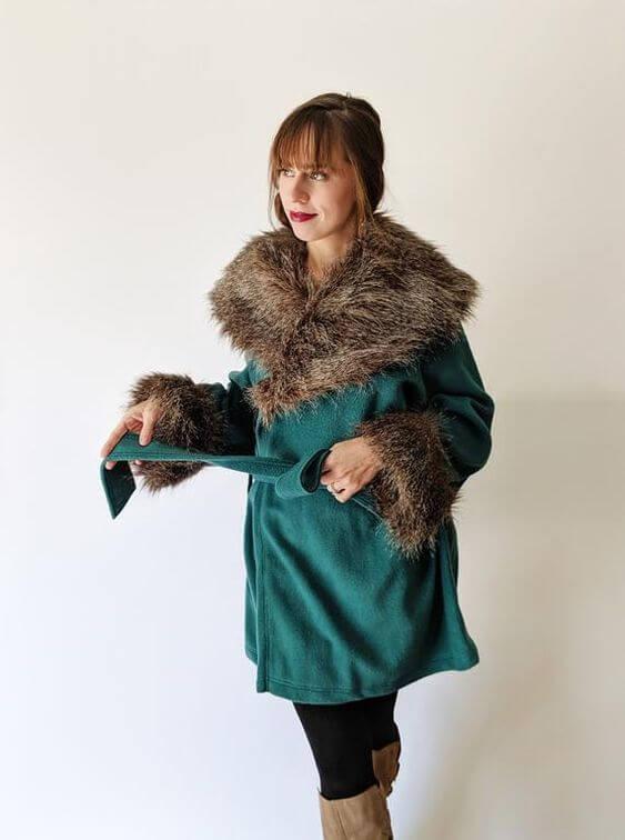 women's casual faux fur wrap coat ideas for christmas