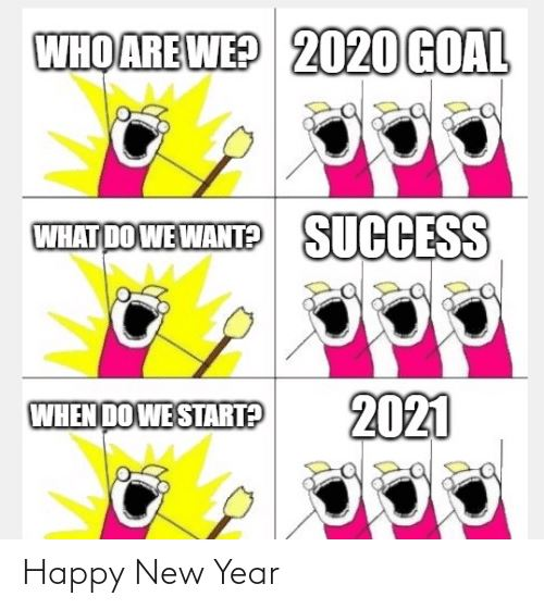 funny new year goals meme for 2021