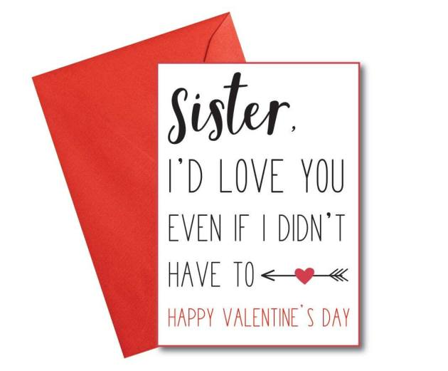 happy valentines day card image for sister