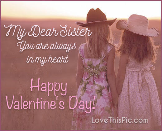 happy valentines day message image for sister