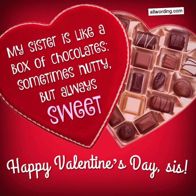 sweet happy valentines day sis message image