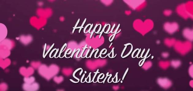 happy valentines day sisters image for facebook cover photo