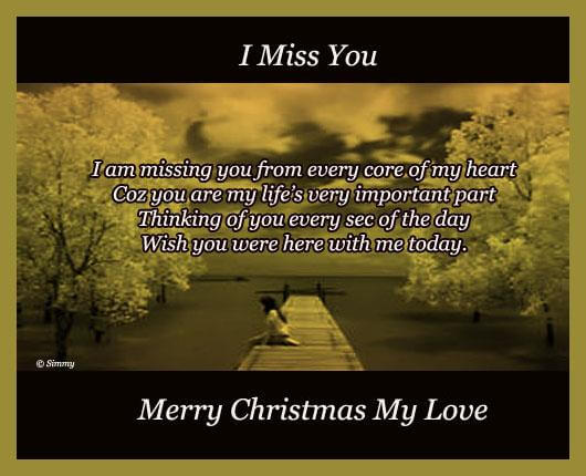 missing you at christmas quote for love