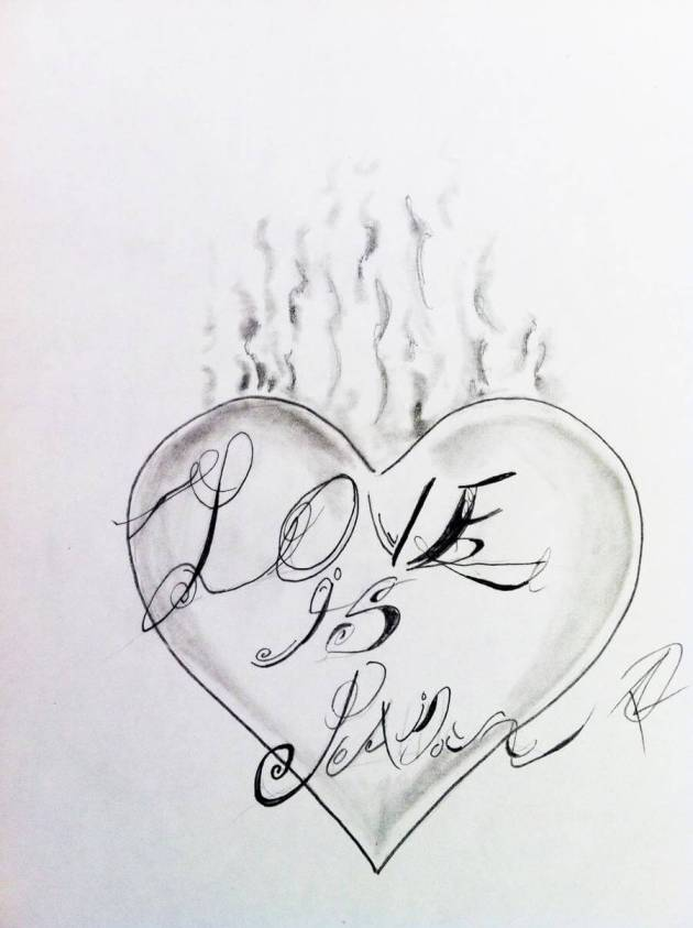 smoking heart with love is pain tattoo sketch ideas