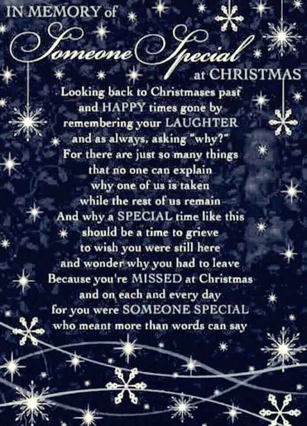 missing you at christmas poem for someone special