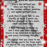missing you at christmas poems for him-her