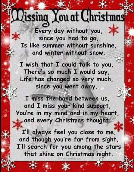 missing you at every christmas poem