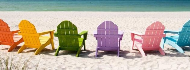 colorful beach benches fb timeline cover photo for summer