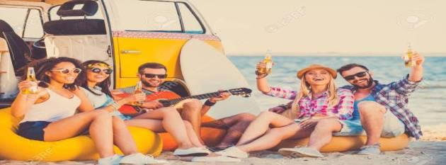 friends enjoying summer at beach facebook timeline cover photo