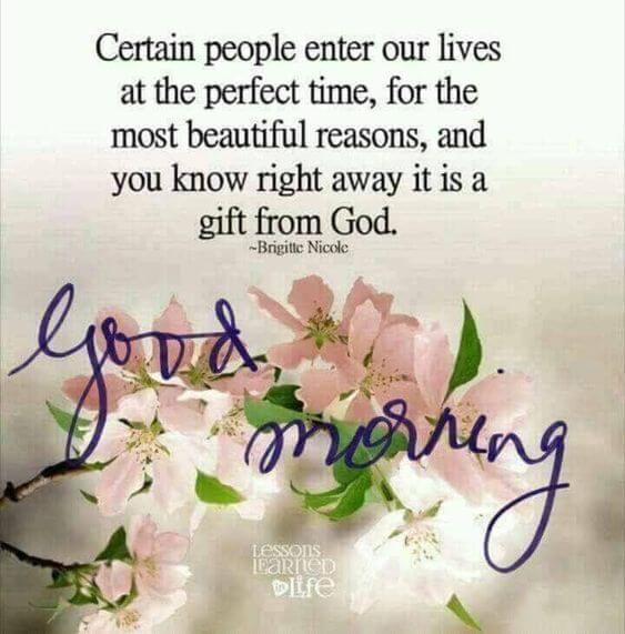 gift of god good morning message image