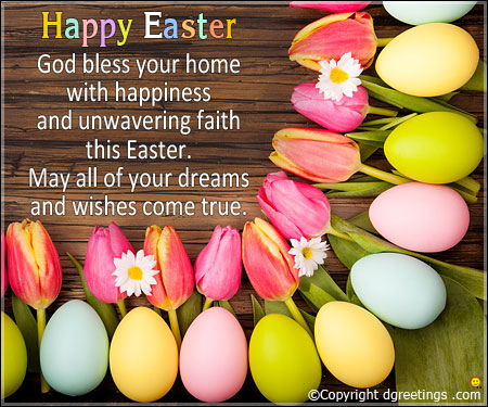 happy Easter blessings wishes image for family and friends