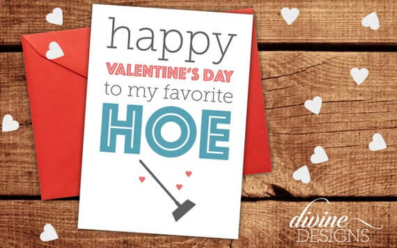 happy valentines day card image for favorite hoe