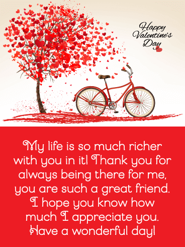 happy valentines day quote image for great friend