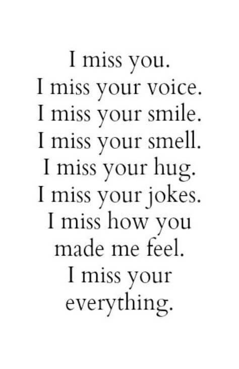 i miss everything about you quote