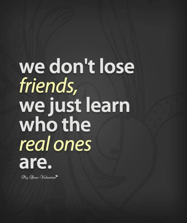real friends quote