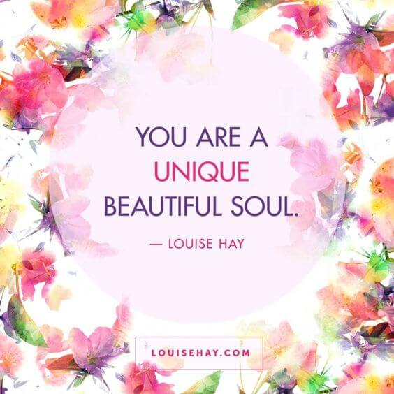 you are a unique beautiful soul quote image for her to smile