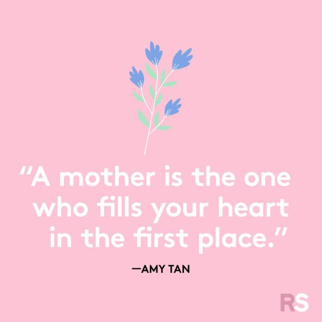 a mother is the one who fills your heart in the first place quote image