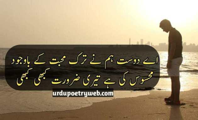 ai dost humne tark-e-mohabbat ke bawajud urdu poetry image