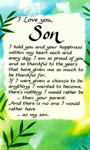 i love you message image for son