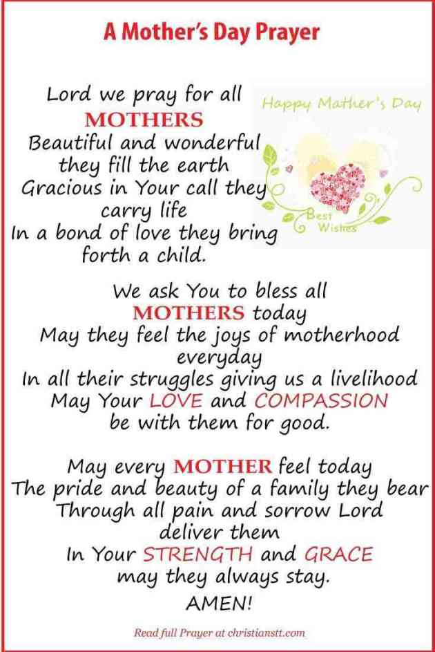 prayer for mothers quote for happy mothers day