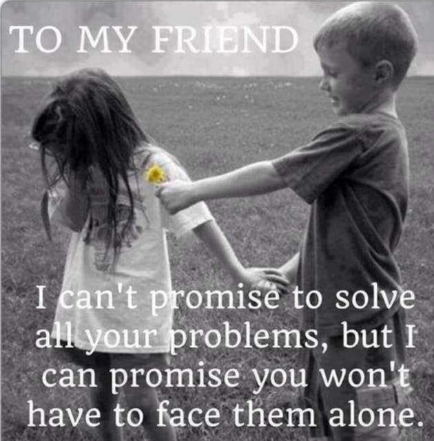 promise of friendship quote image