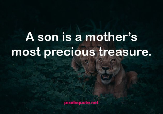 short quote about mother and son relationship