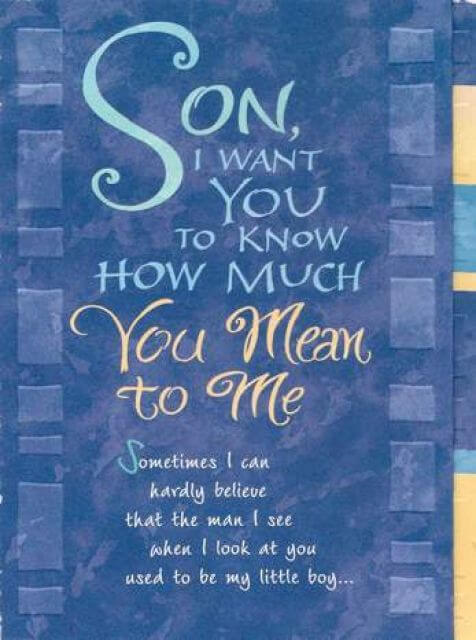 you are everything to me message for son