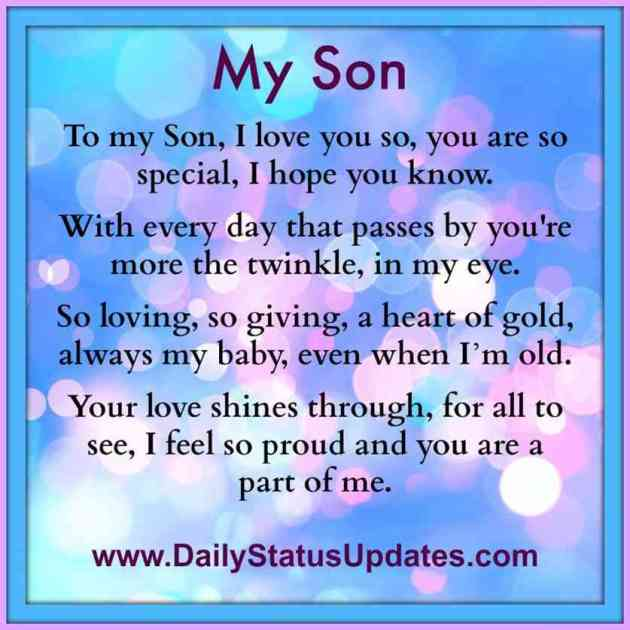 to my son i love you message image