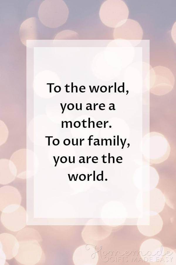 to the world you are a mother quote image