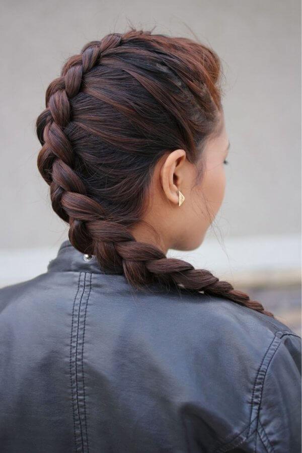 simple dutch braid hair style