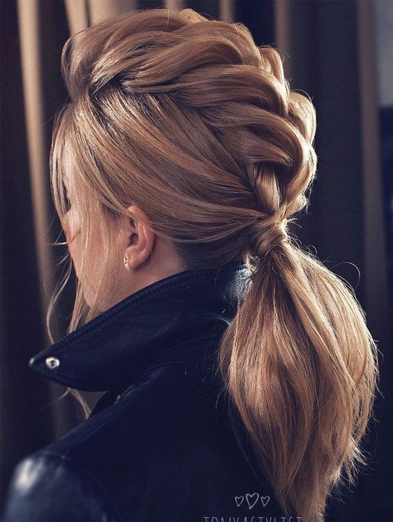dutch braided ponytail hairstyle