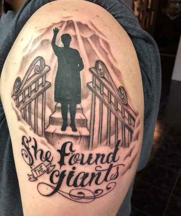 memorial gates of heaven tattoo design for loved ones passed away
