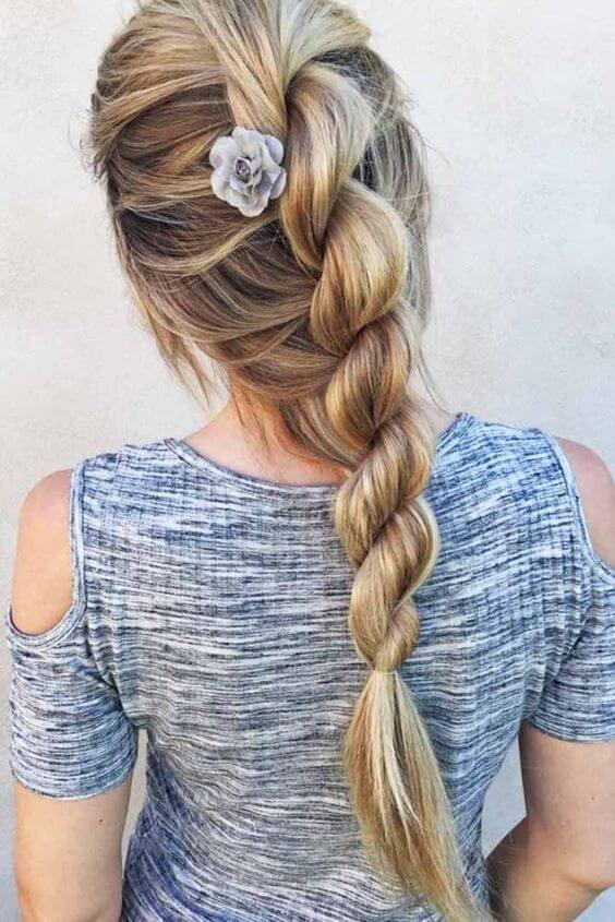 rope braid hair dos