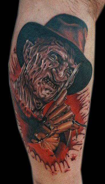 Freddy Krueger bloody ink background tattoo picture