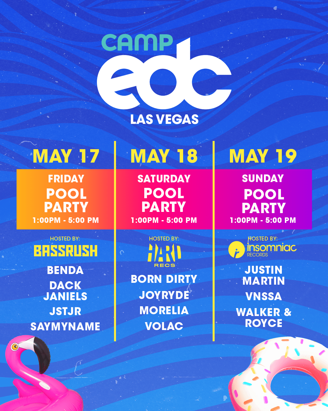 Insomniac Announces Camp EDC Pool Party Lineups for Electric