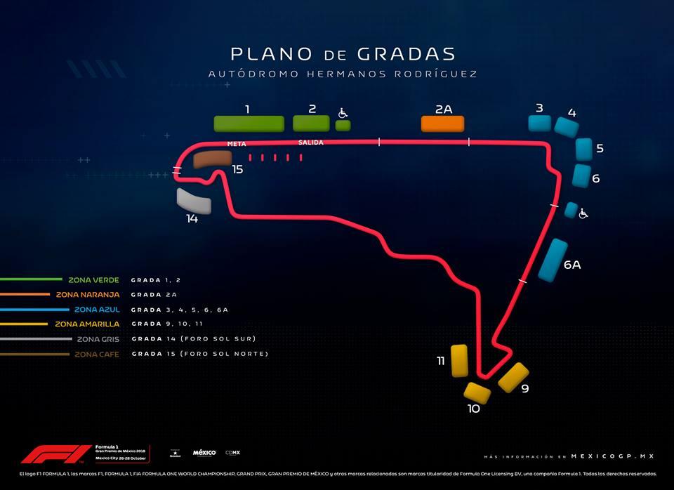 F1 México - Gradas
