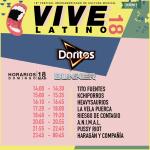 Vive Latino - Doritos - Horarios Domingo