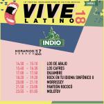 Vive Latino - Indio - Horarios Sábado