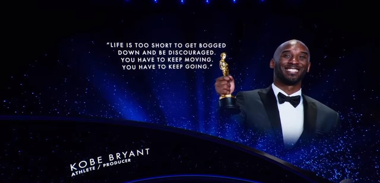 Recuerdan a Kobe Bryant en los Oscars