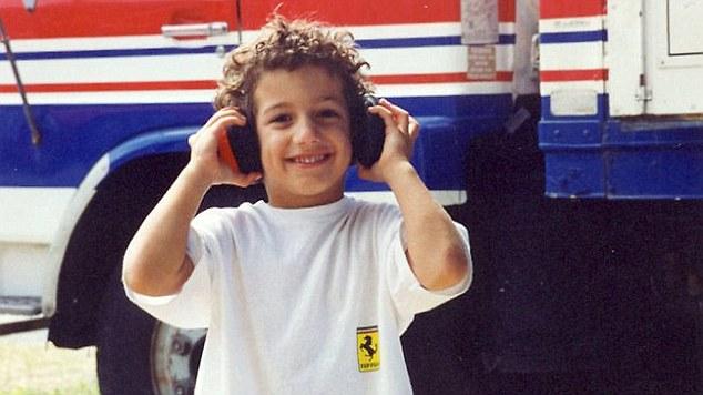 Daniel Ricciardo kindertijd foto een via dailymail.co.uk