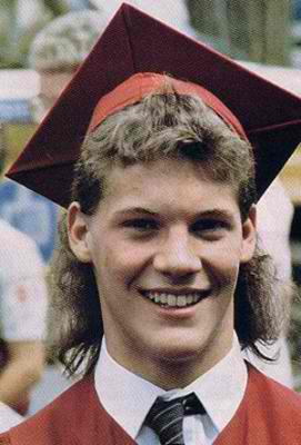 Chris Jericho yearbook photo one at http://www.wrestlingmedia.org at http://www.wrestlingmedia.org