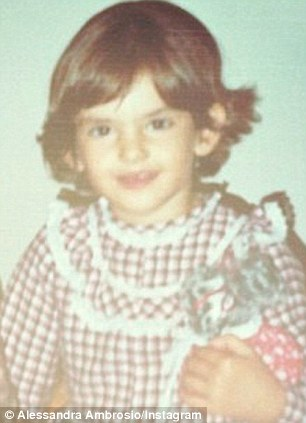 Alessandra Ambrosio childhood photo one at pinterest.com