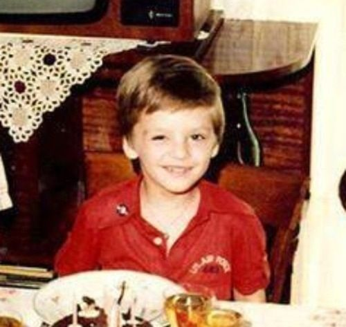 Sebastian Stan childhood photo one at pinterest.com