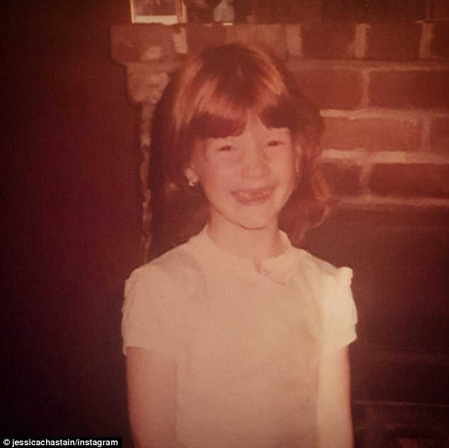 Jessica Chastain childhood photo one at dailymail.co,uk