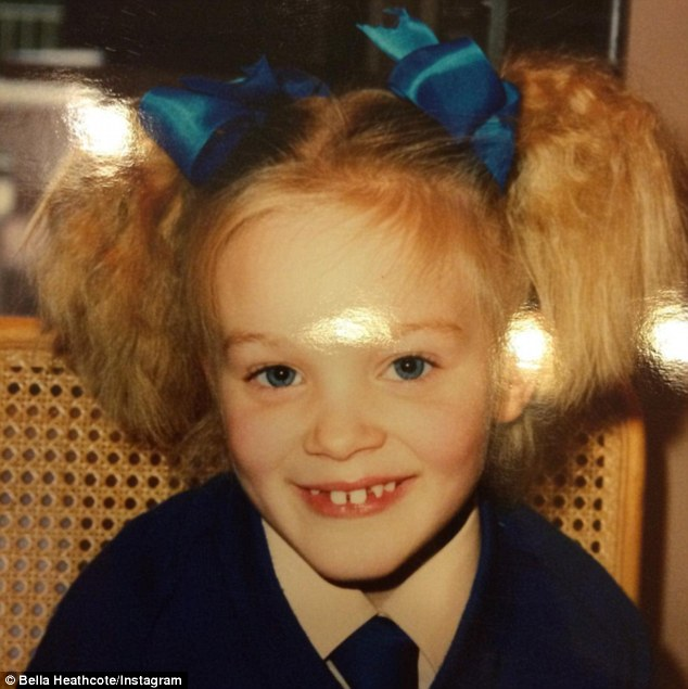 Bella Heathcote childhood photo one at Dailymail.co.uk