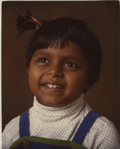 Mindy Kaling childhood photo one at Pinterest.com